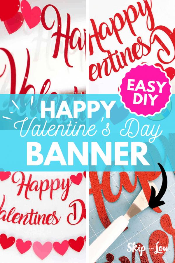 happy valentines day banner DIY PIN