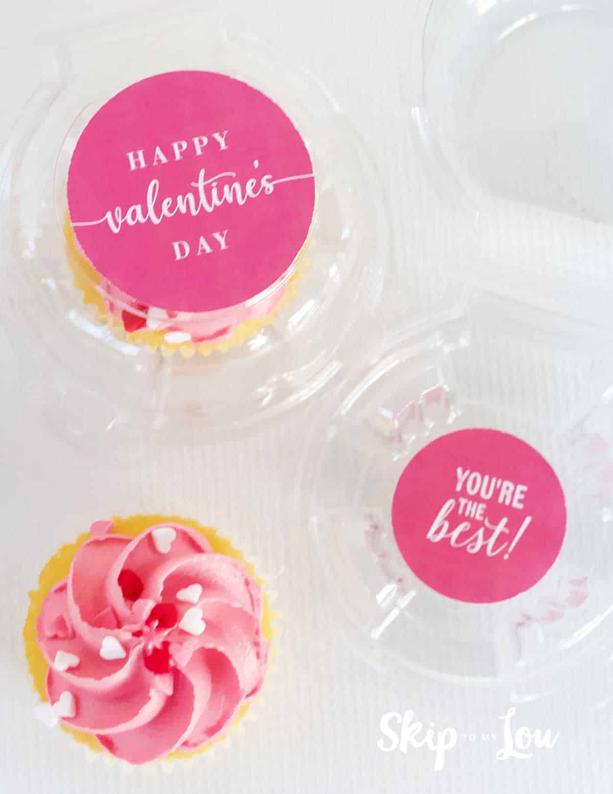 Valentine Cupcake packaging