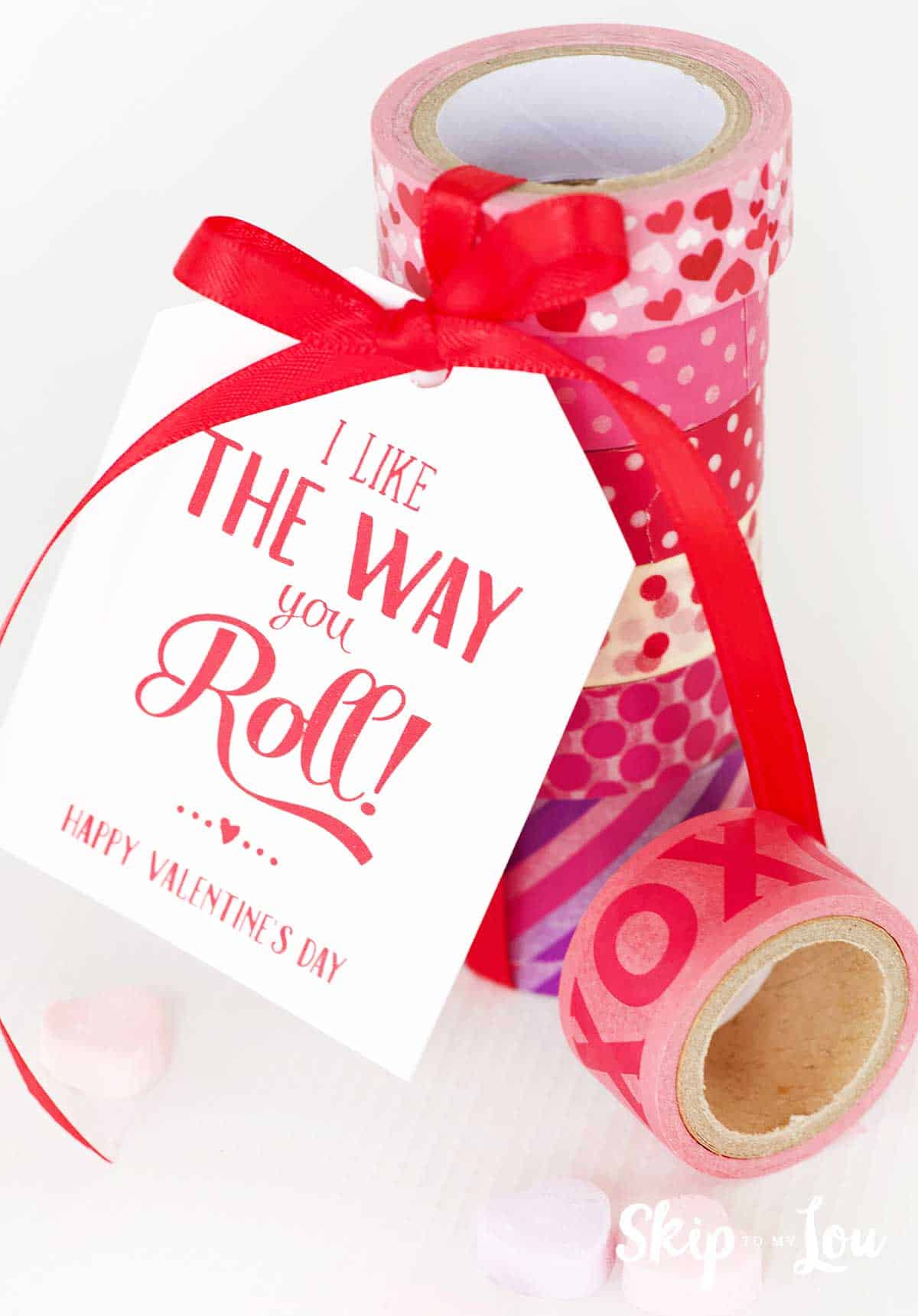 washi tape with tag that says I like the way you roll