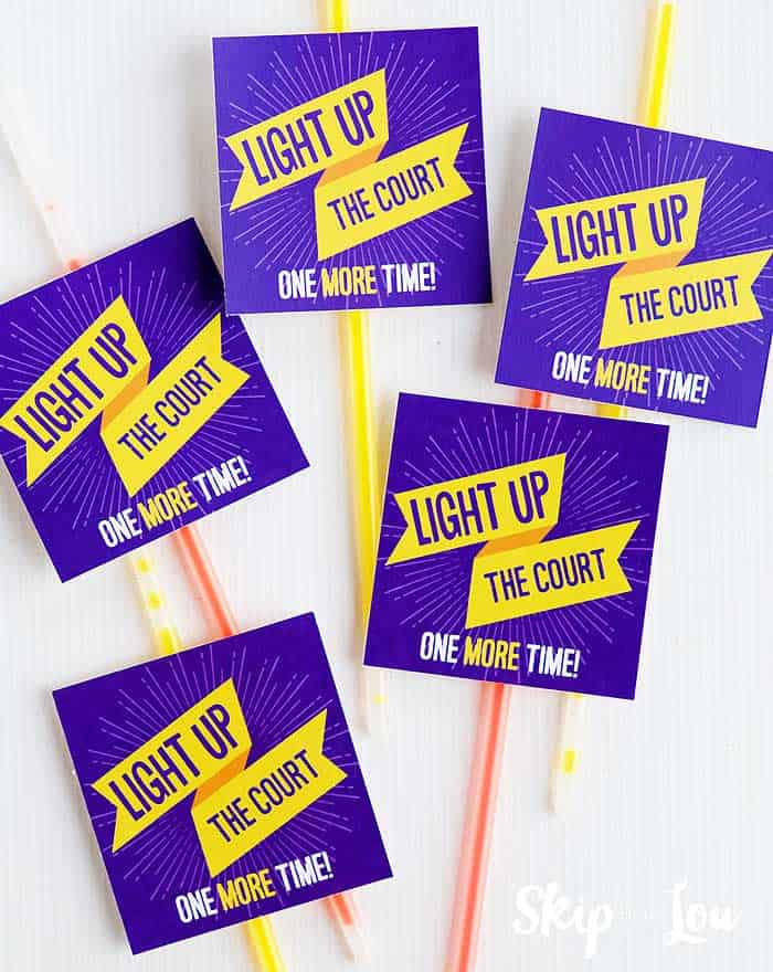 printable tags on glow sticks