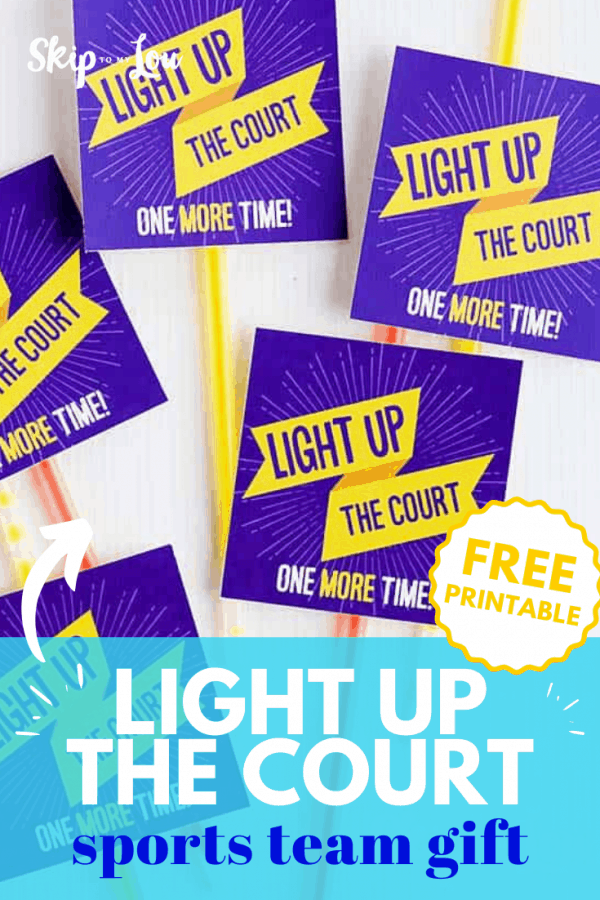 light up the court sports team gift PIN