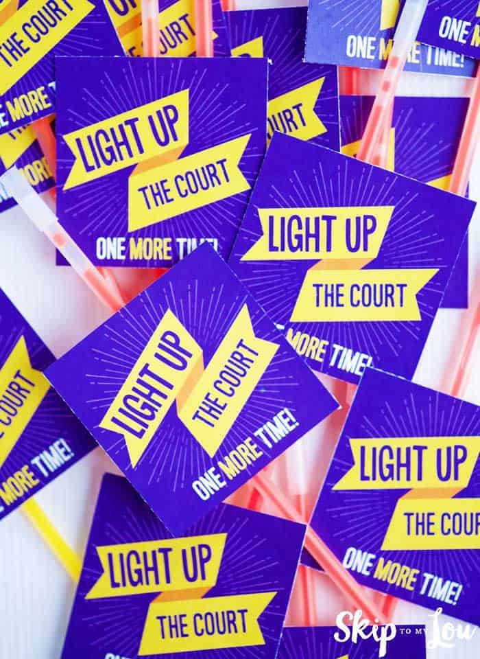 light up the court one more time tags on glow sticks