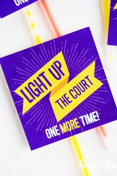 light up the court tag on a glow stick