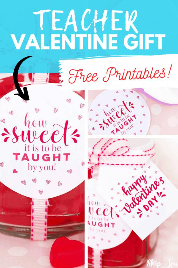 teacher valentine gift printable PIN