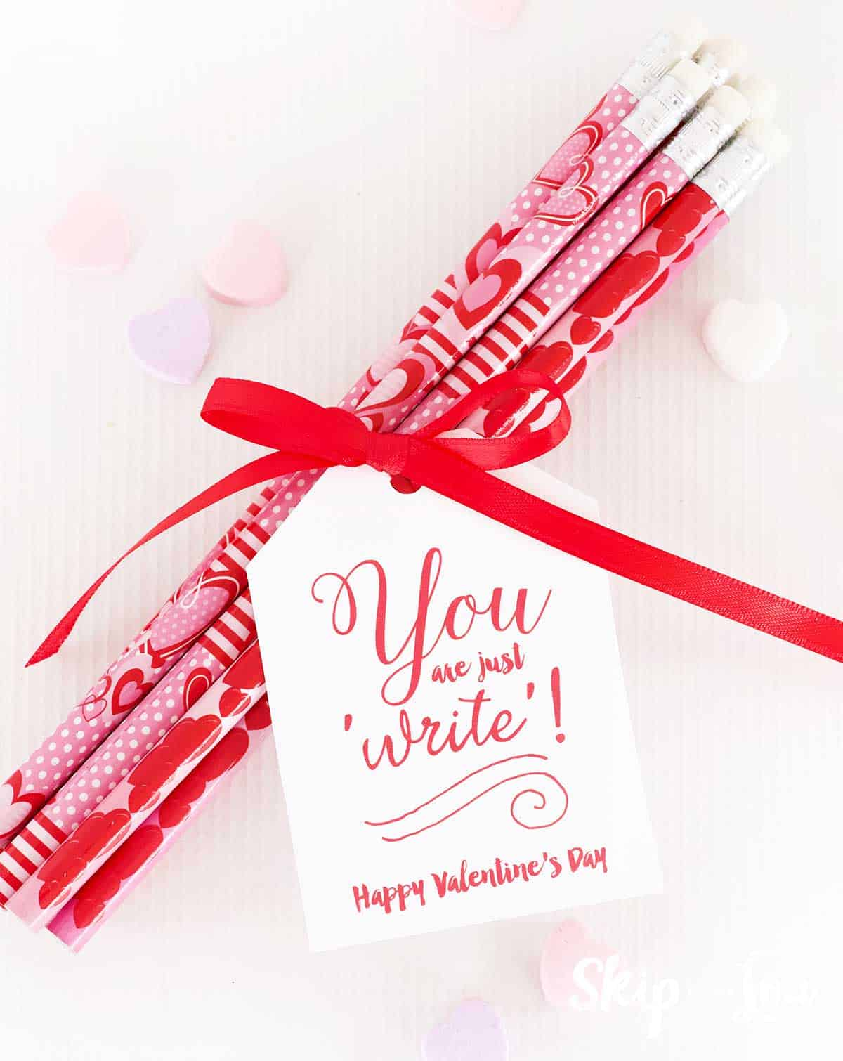 pencils tied with bow and you are just write gift tag
