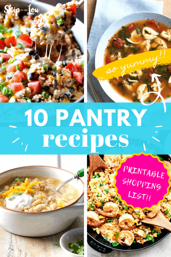 pantry recipes printable shopping list PIN