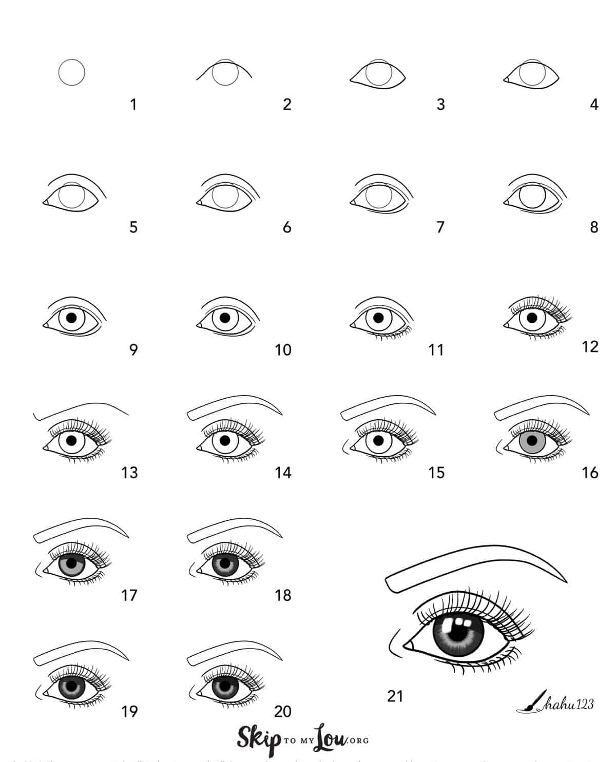 step by step drawing guide for eye drawing