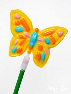 candy melt sucker butterfly shape