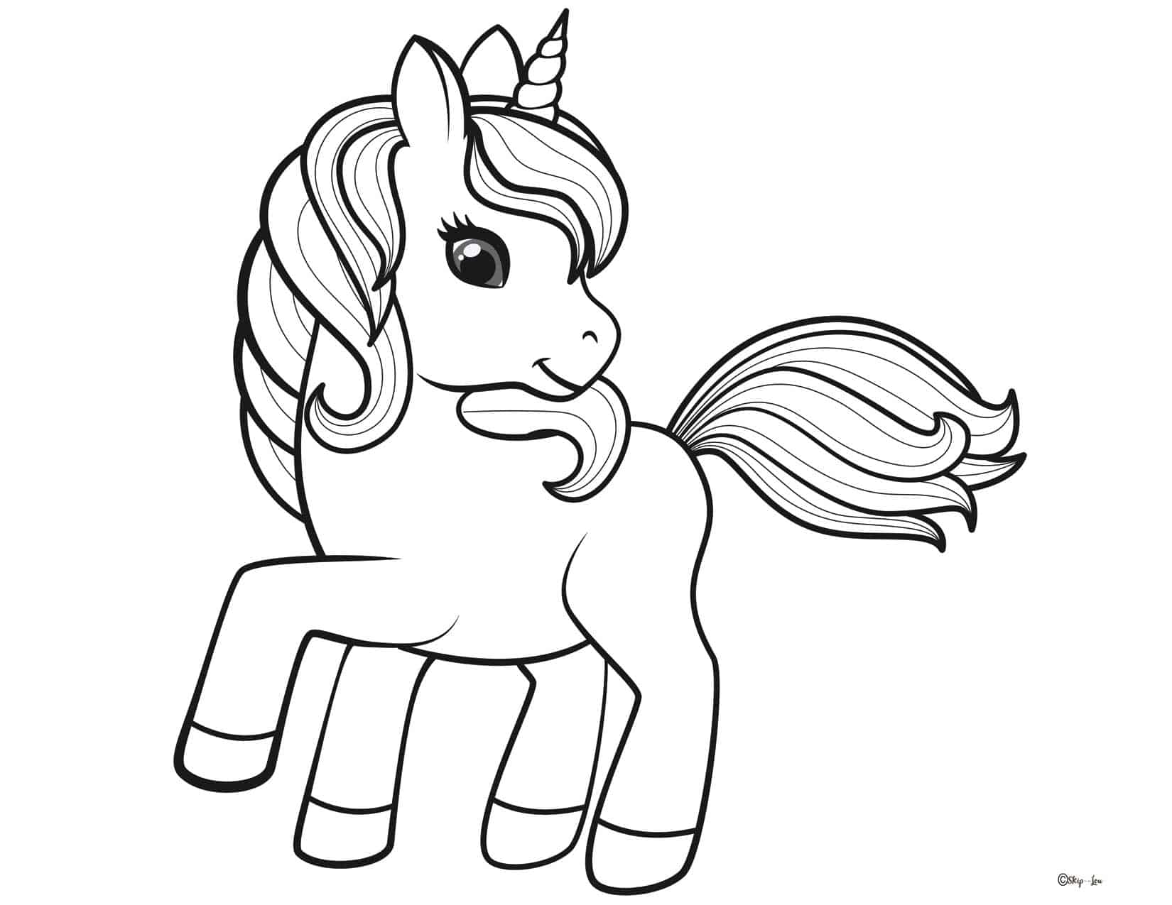 - Unicorn Coloring Pages Skip To My Lou