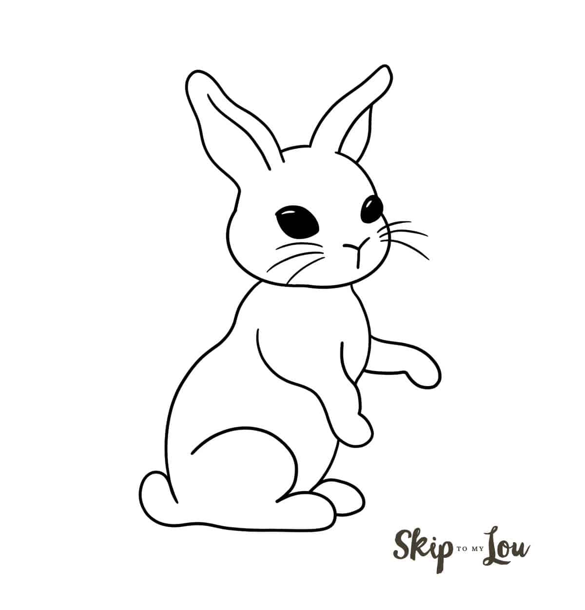 easy bunny drawing