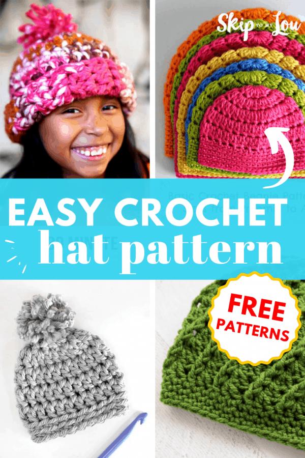 easy crochet hat pattern PIN
