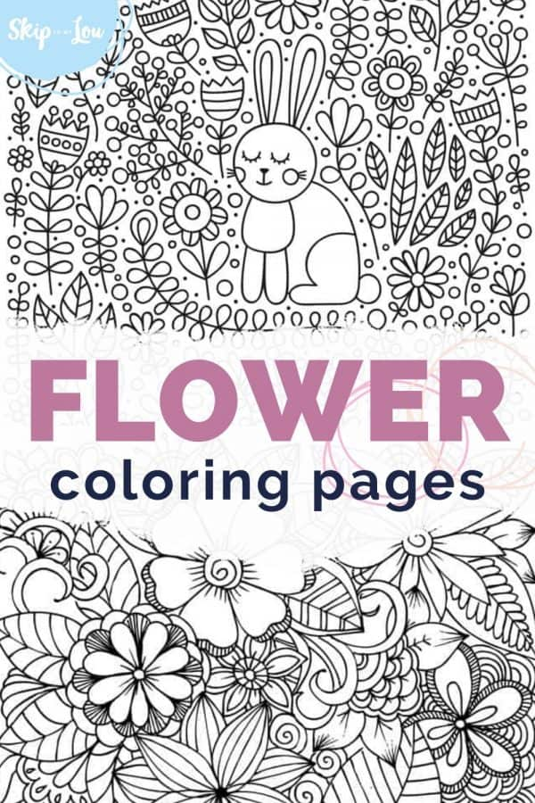 flower coloring pages PIN