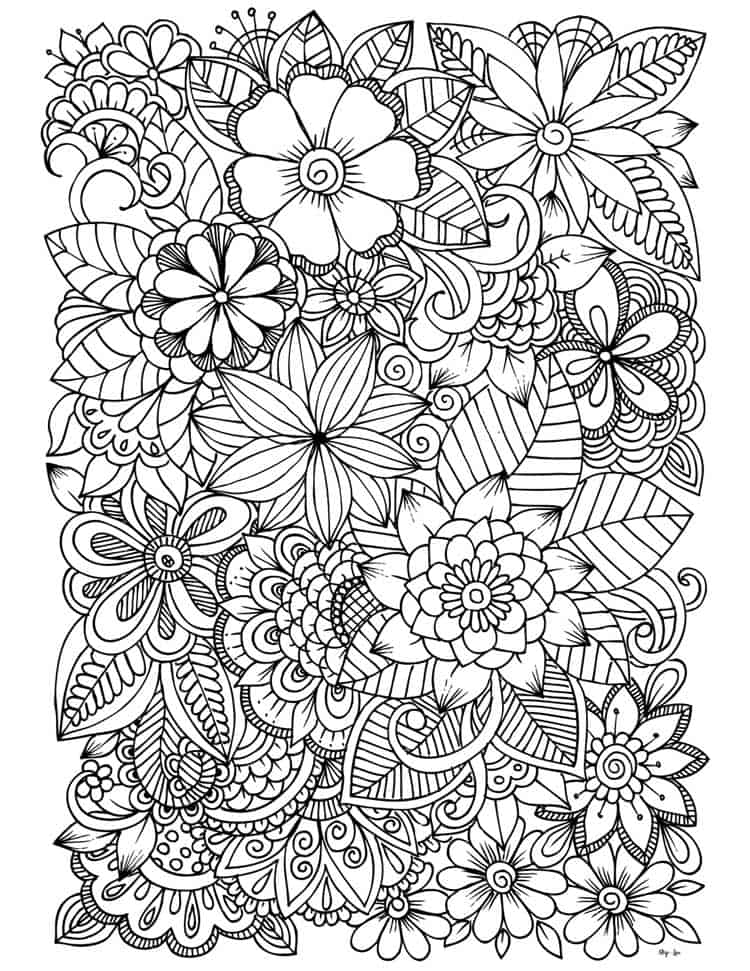 - Flower Coloring Pages Skip To My Lou