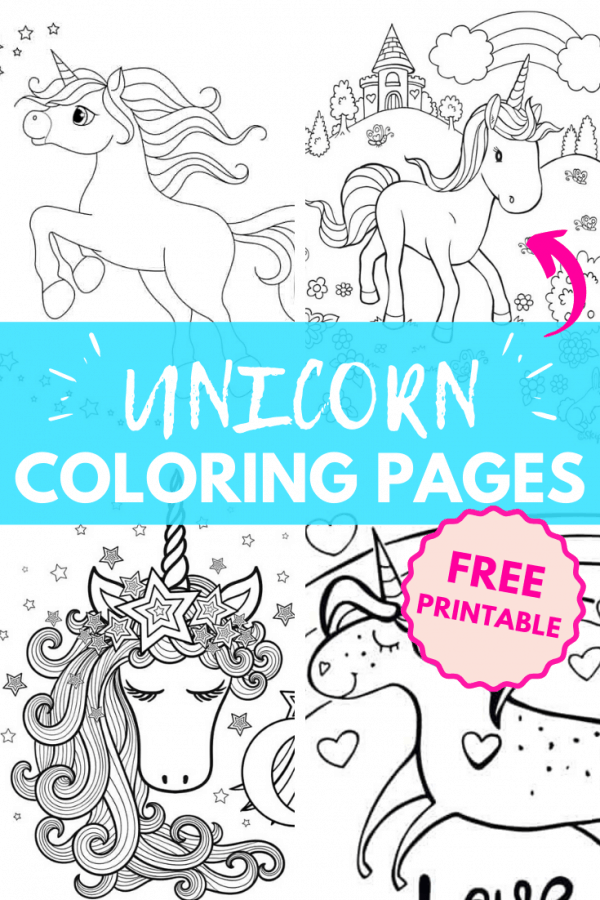 free unicorn coloring pages PIN