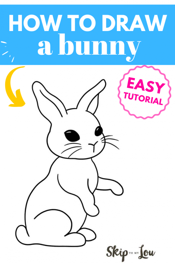 how to draw a bunny PIN