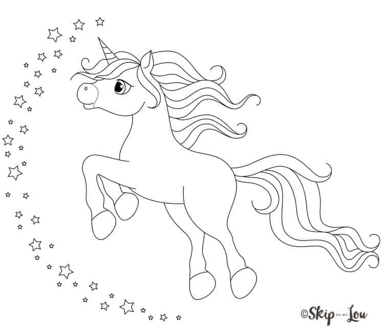 flying unicorn with stars