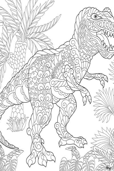 tyrannosaurus rex coloring page printable