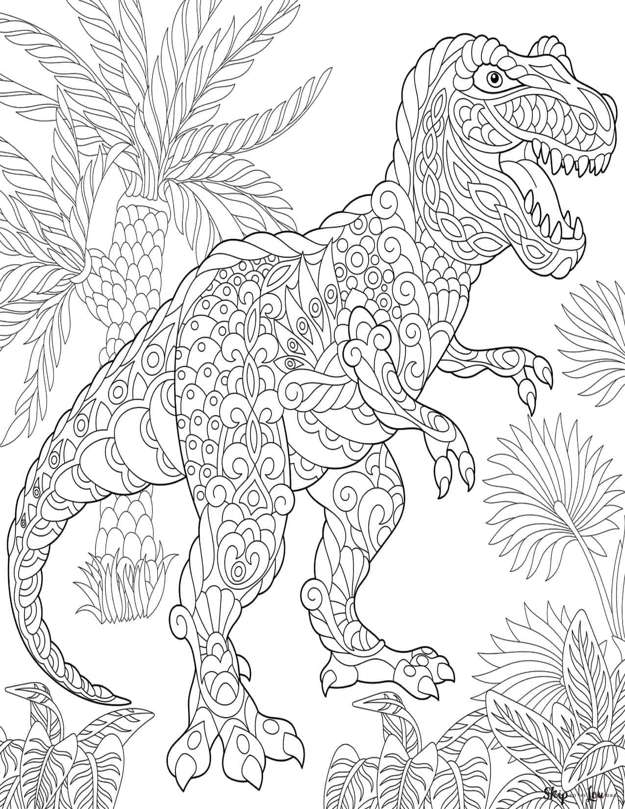 - Dinosaur Coloring Pages Skip To My Lou