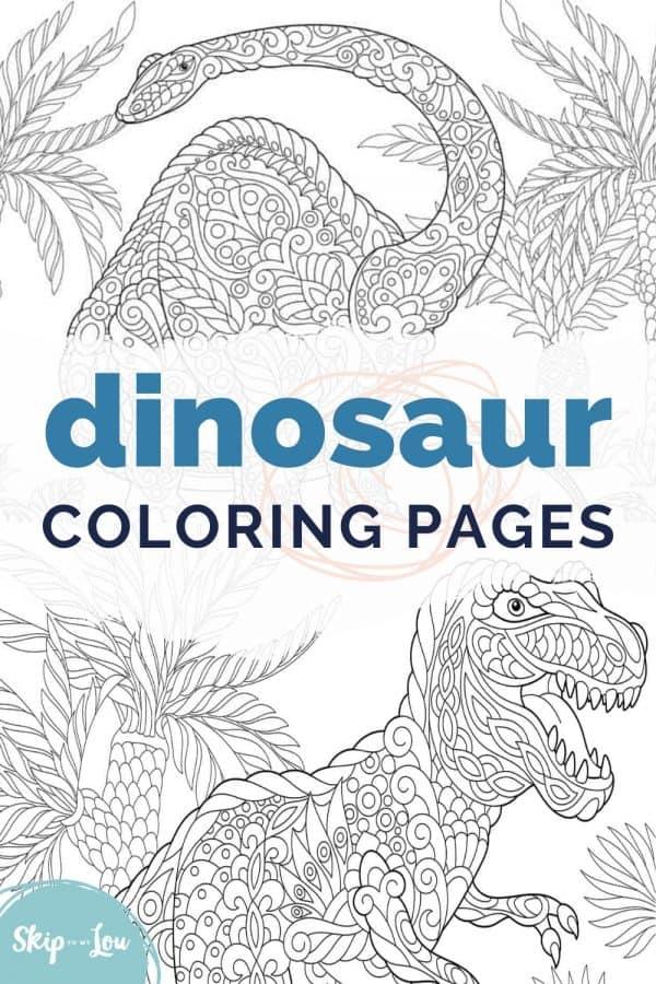 dinosaur coloring pages PIN
