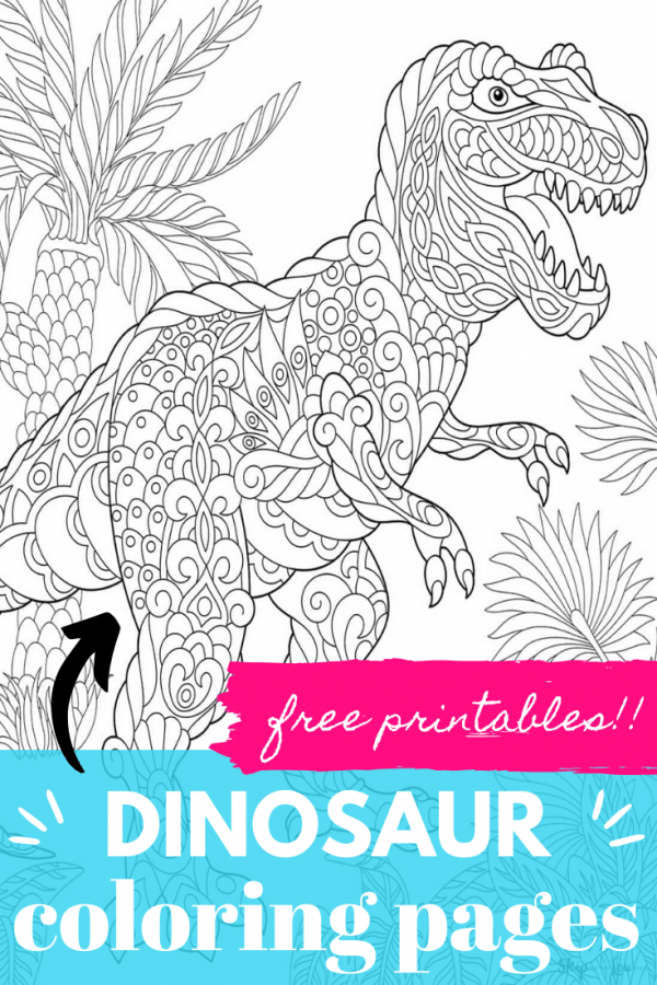 dinosaur coloring pages PIN