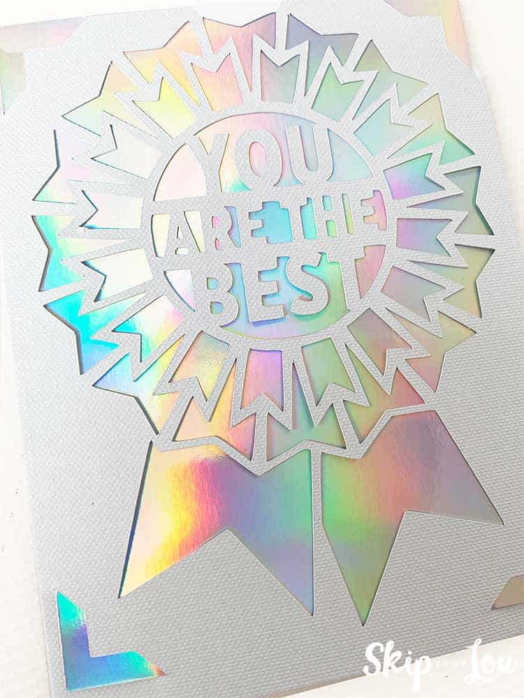 you are the best cricut joy card