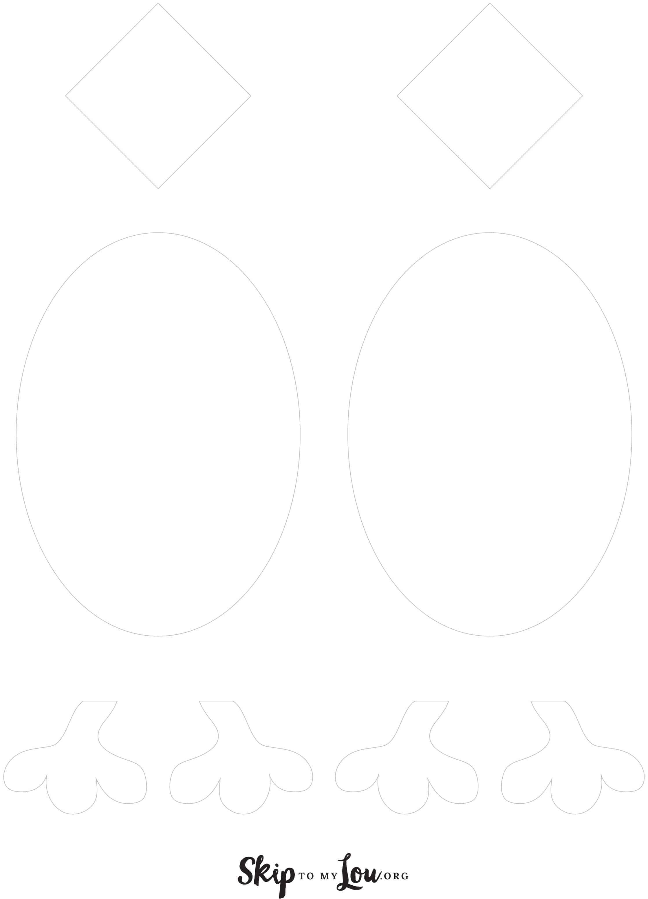 printable egg chick template