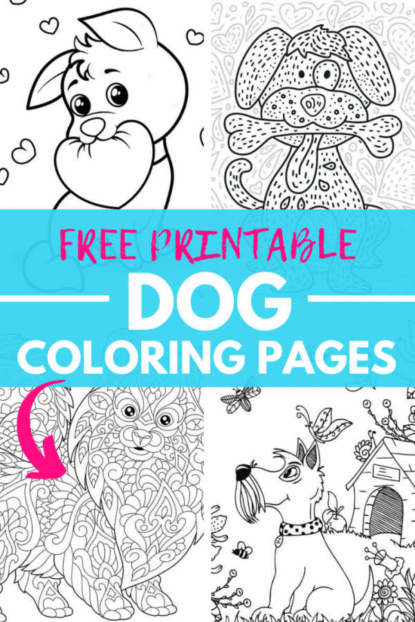 free printable dog coloring pages PIN