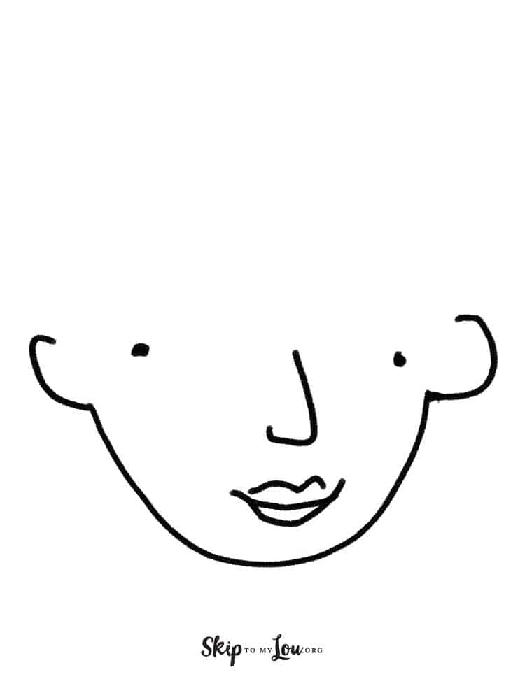 free printable face for make up activity