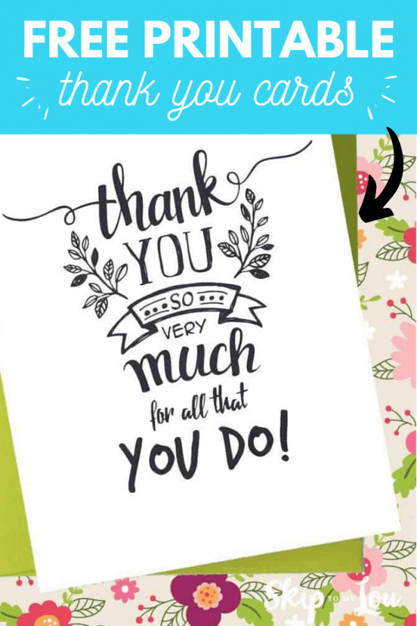 free printable thank you card PIN