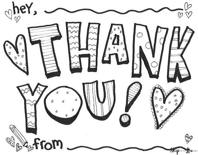 - Cute Printable Thank You Sign {FREE Coloring Page} Skip To My Lou