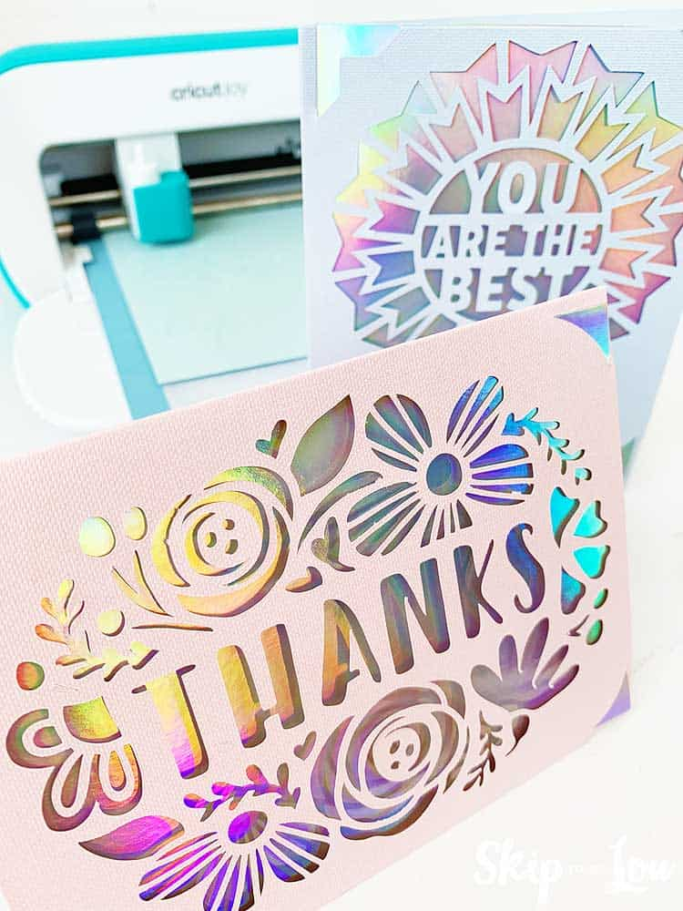 greetting cards made with cricut joy