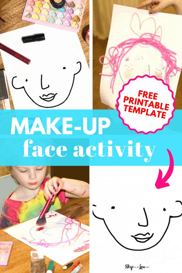makeup face activity free printable template PIN