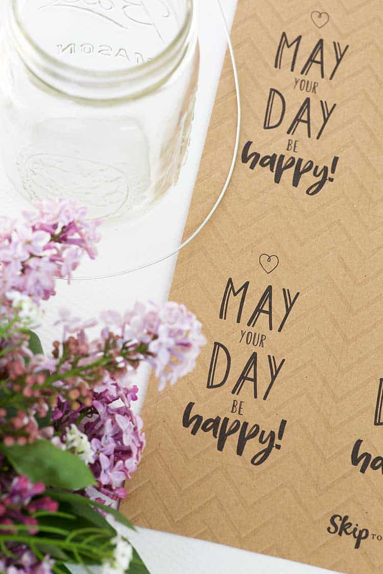 printable tags flowers mason jar