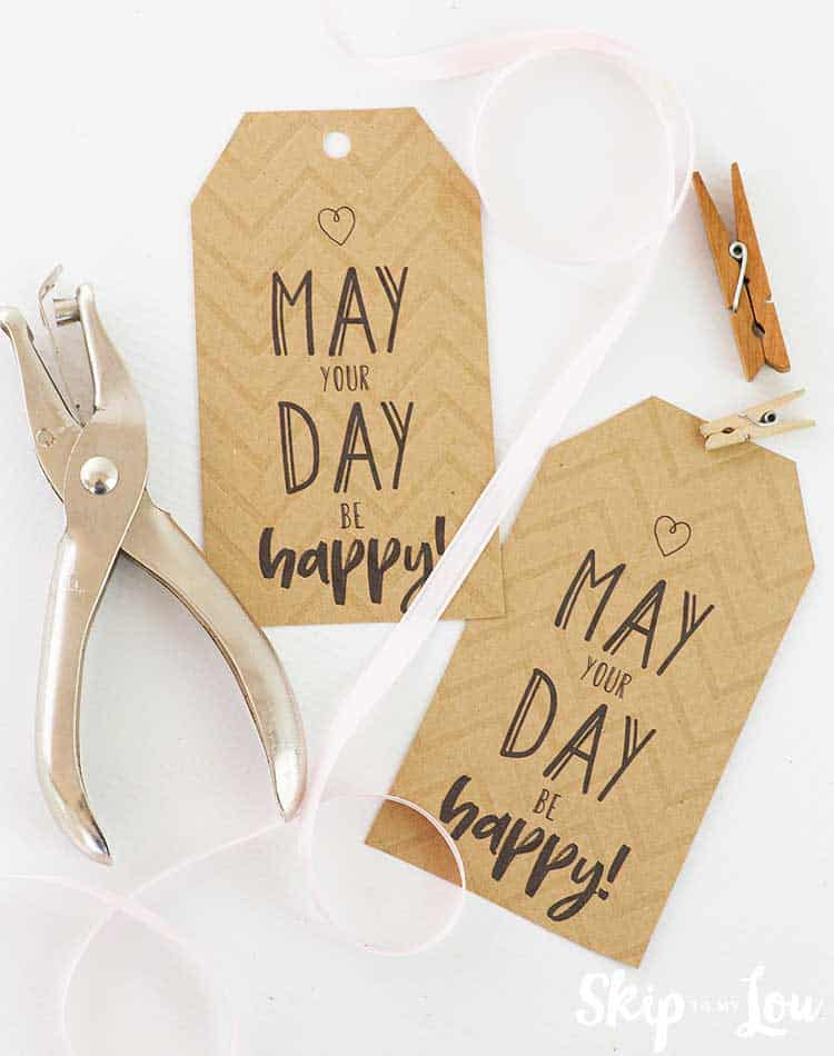 may day gift tags robbing hole punch clothes pins