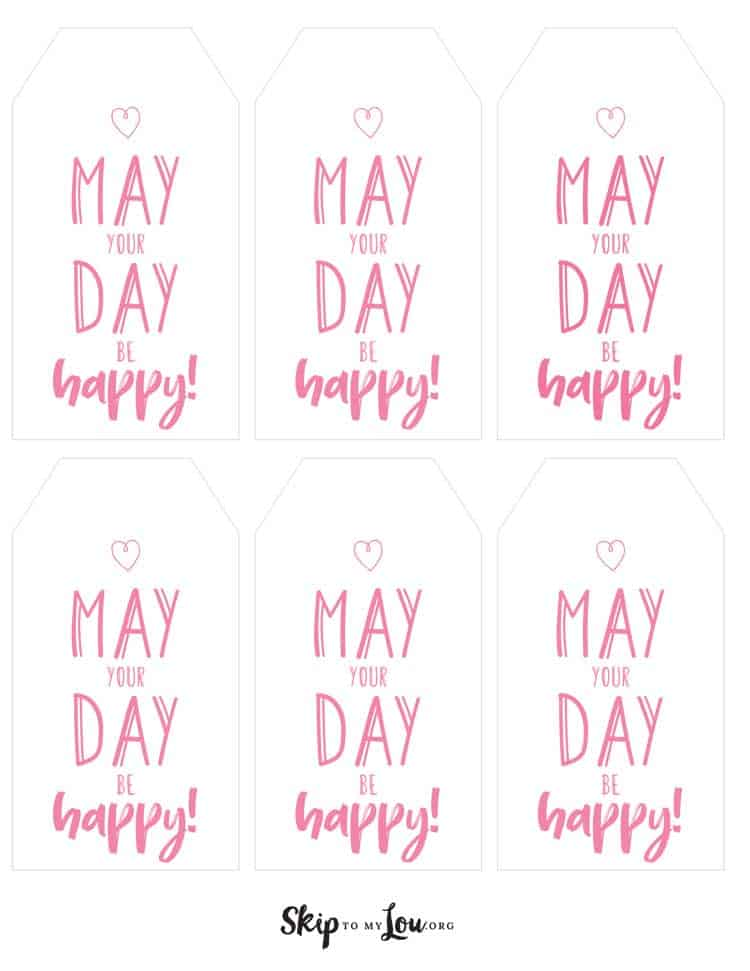 printable may day tags pink