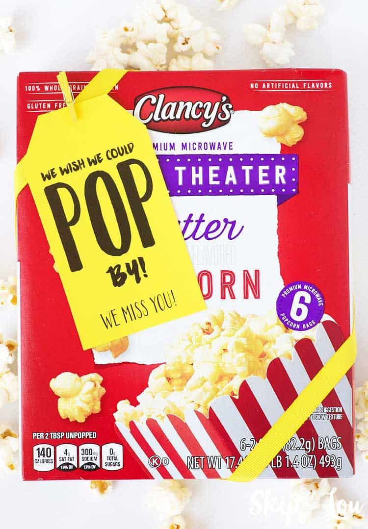 wish we could pop by tag attached to box of microwave popcorn