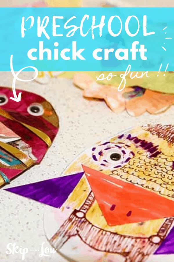 preschool chick craft PIN
