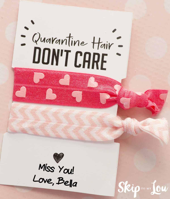 quarantine hair ties gift