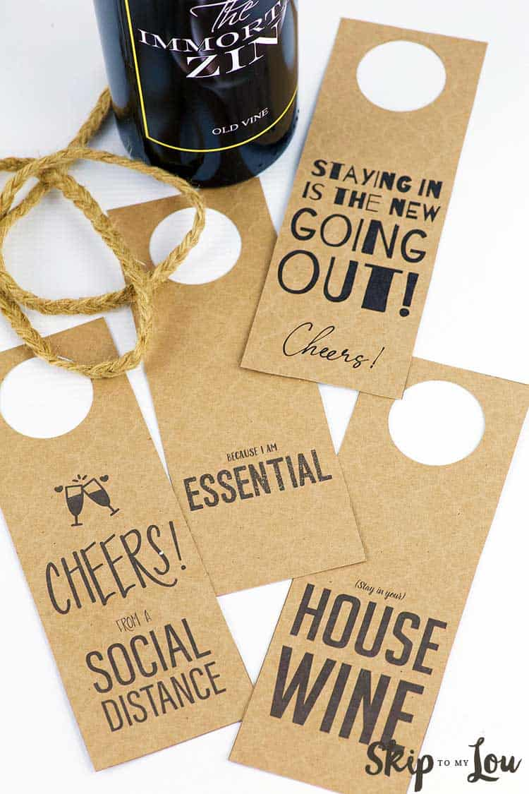 bottle of wine twine wine gift tags with funny sayigs