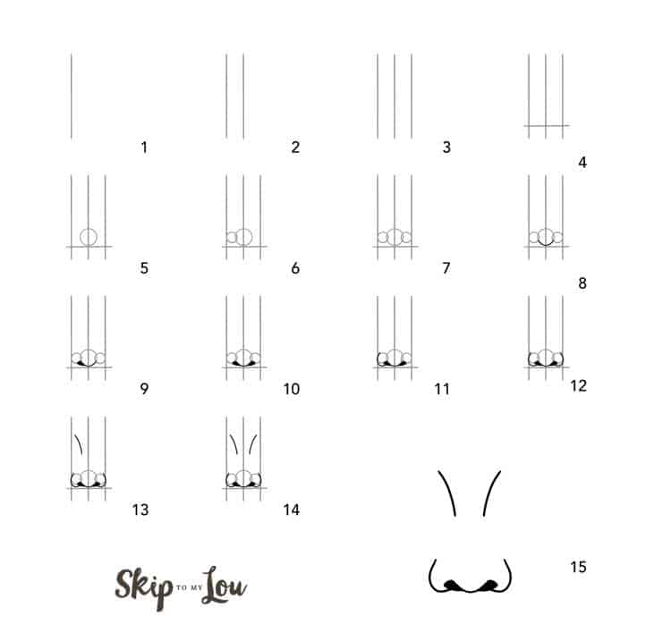 easy nose drawing step by step