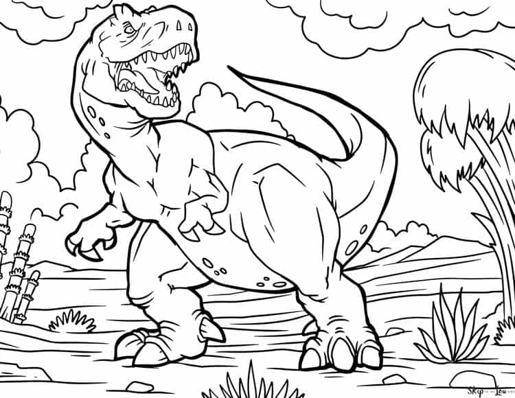coloring book ~ Tyrannosaurus Coloring Page Picture Inspirations ... | 580x750