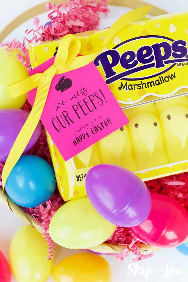 peeps candy plastic colored eggs we miss our peeps tag in easter basket