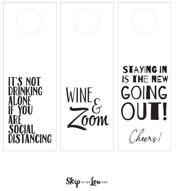 it's not drinking alone if you are social distancing, wine and zoom, staying in is the new going out!
