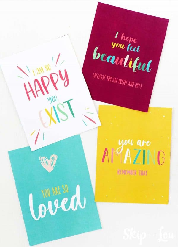 four good vibes postcards
