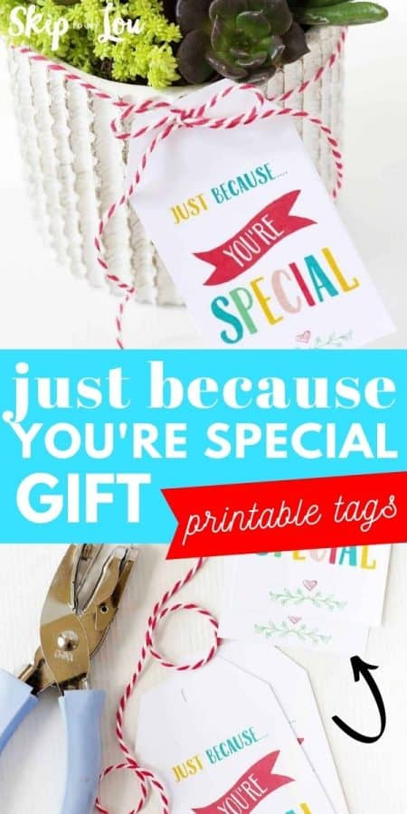 just because printable gift tags PIN