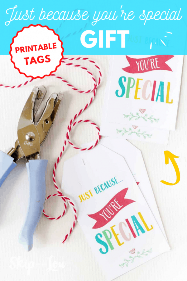 just because you're special gift tags PIN