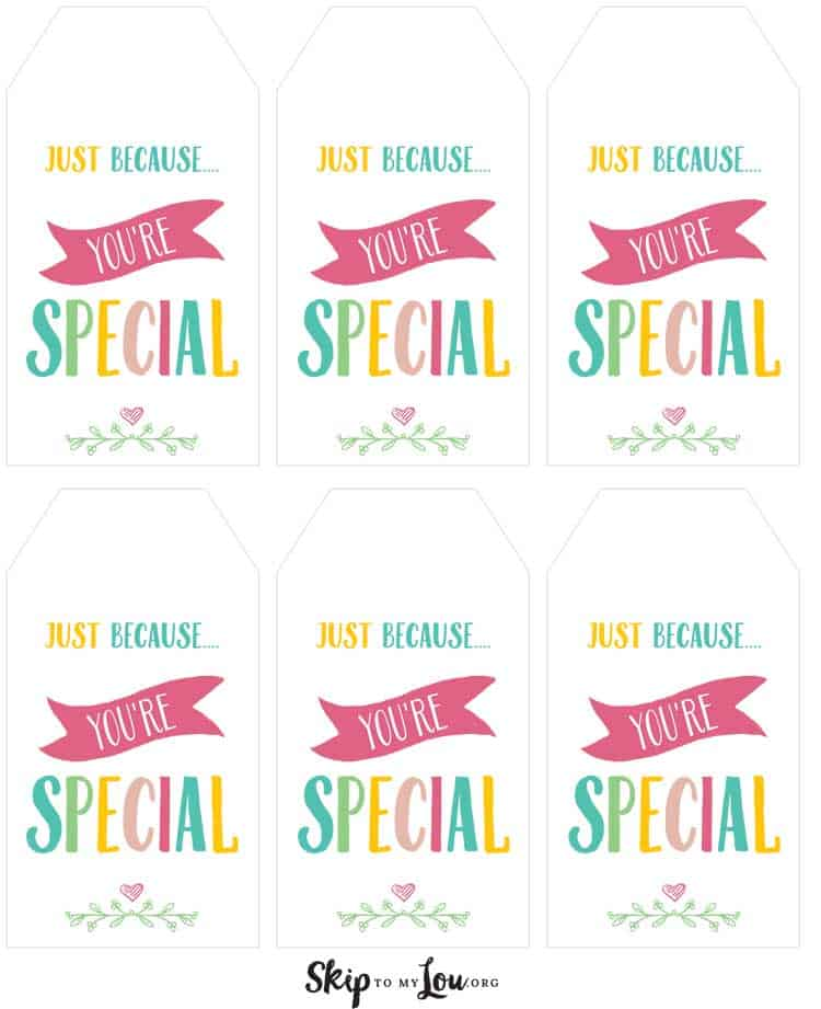 6 gift tags on one page