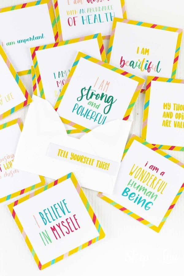 printed affirmation cards