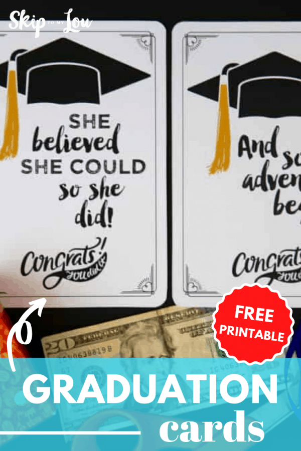 printable graduation cards PIN
