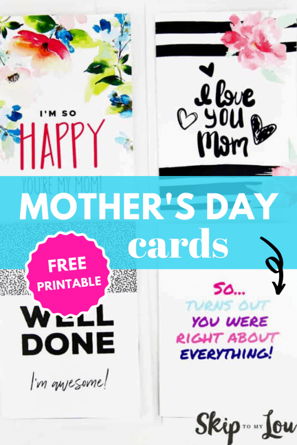 printable mothers day cards PIN
